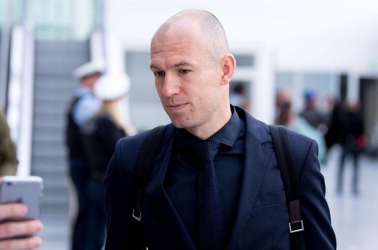 Met zijn 34 jaar hoort Robben tot de oudere spelers van Bayern München. Beeld afp