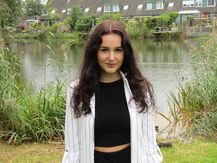 Jasmijn Hendriks (19) uit Soest: 'Ik werk keihard om beter en beter te worden'.
