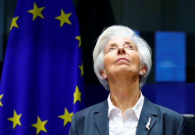 President van de Europese Centrale Bank (ECB) Christine Lagarde in december.  Beeld REUTERS