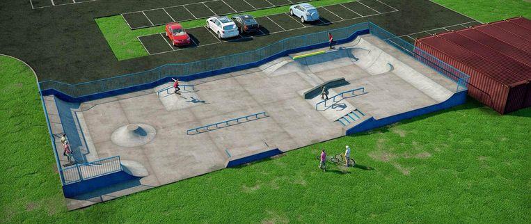 Aan dit ontwerp van het skatepark hebben ook jongeren meegewerkt.