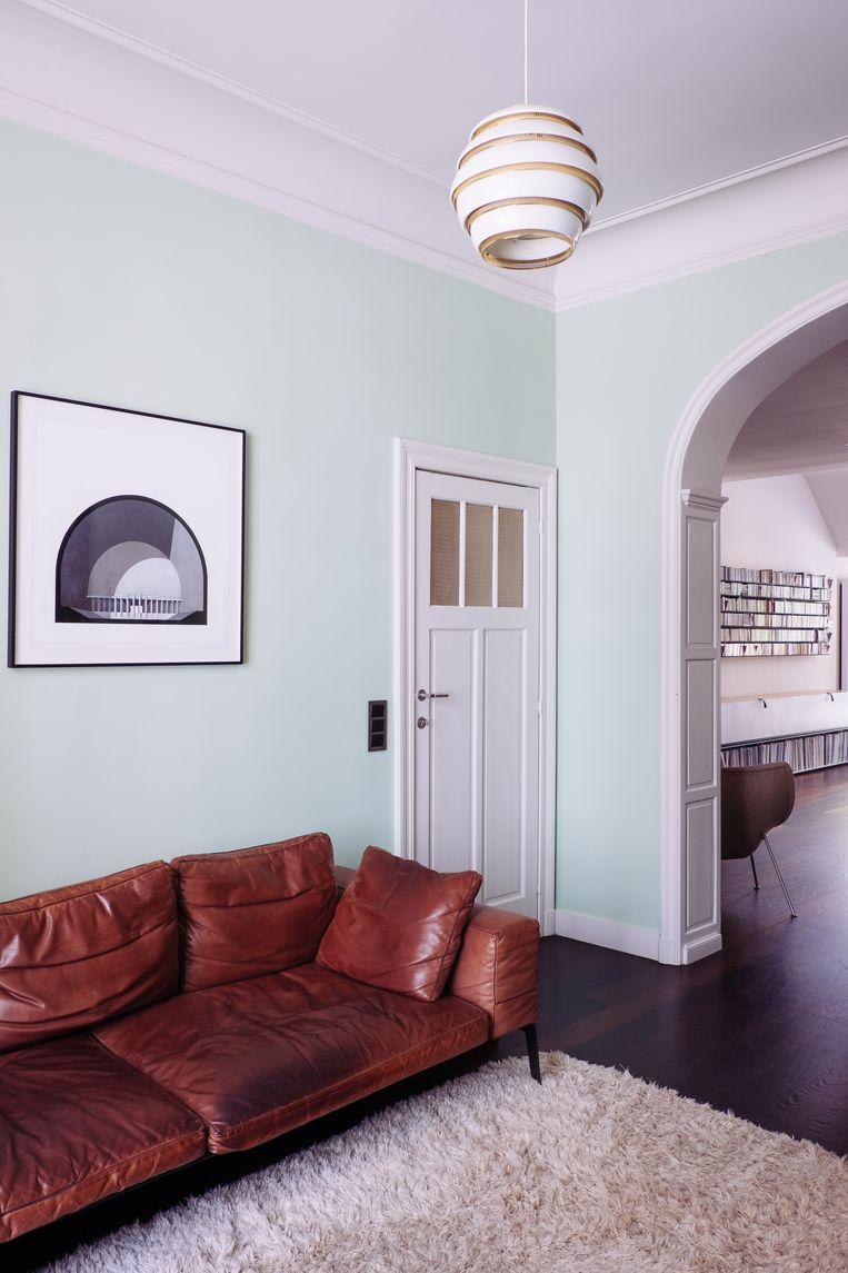 Inspiratie voor het mintgroen vond Onno in Villa Cavrois, een modernistisch gebouw in Roubaix.