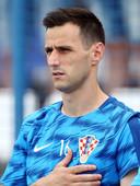 Nikola Kalinic voor het oefenduel met Senegal in aanloop naar het WK.