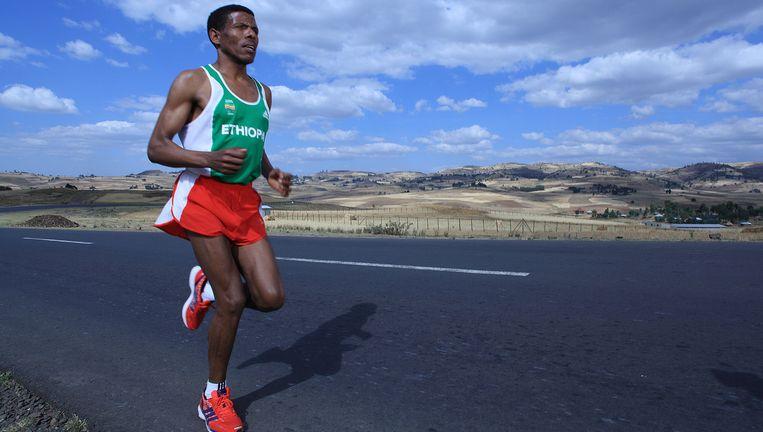 Haile Gebrselassie veroorzaakte met snelle, nauwkeurig geregisseerde marathons een revolutie Beeld Michel Temteme / LUZphoto