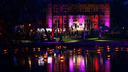 Nieuwjaarsdrinkaan sfeervol verlicht gemeentehuis