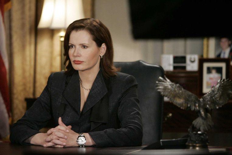 Geena Davis in de tv-serie Commander in Chief. Beeld