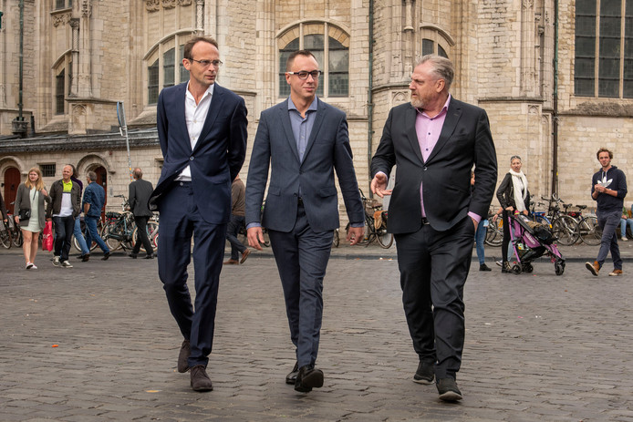 Initiatiefnemers Ronald Roothans, Joep van Meel en Peter Schouten (vlnr).