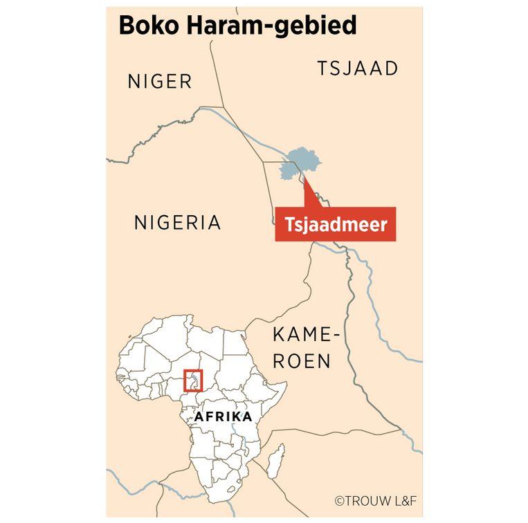 Boko Haram-gebied rond het Tsjaadmeer. Beeld Louman & Friso