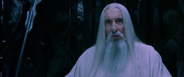 Lee als Saruman. Beeld null