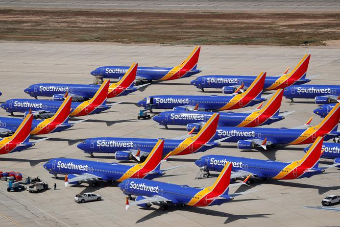 Boeing 737 MAX die aan de grond moeten blijven