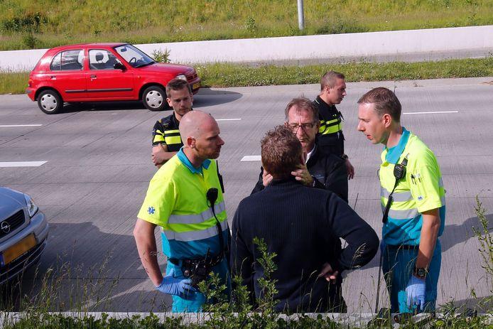 Ongeluk op de Grasdreef in Eindhoven.