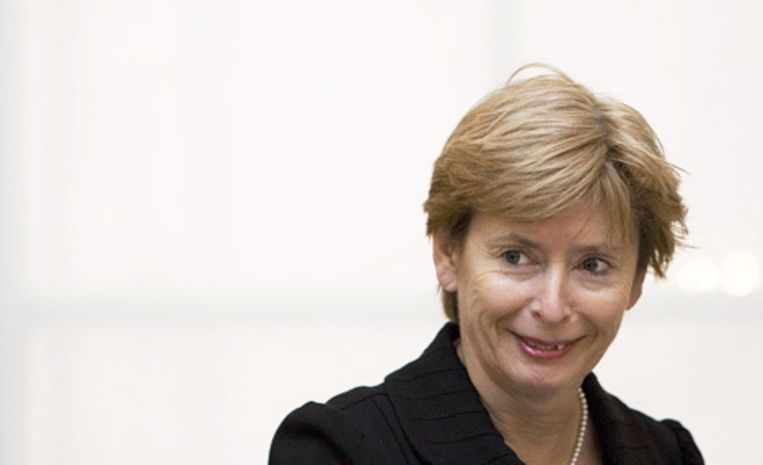 Ter Horst (foto) is tegen de benoeming van Teun Visscher omdat ze liever een allochtoon of een vrouw op die plaats ziet. Maar sinds haar veto dit weekeinde uitlekte, laait de commotie op. Foto ANP/Valerie Kuypers Beeld