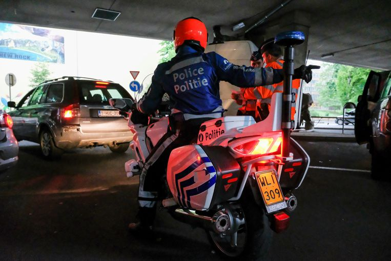 Politie illustratie.