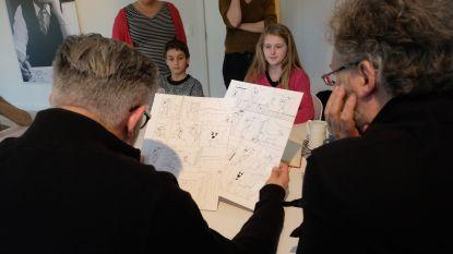 Jeugdambassadeurs op bezoek bij Studio Vandersteen