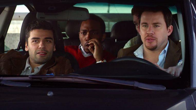 Oscar Isaac, Anthony Mackie, Chris Pratt en Channing Tatum in 10Years. Beeld