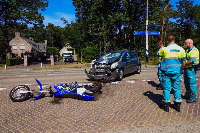 Ongeval op de Locht in Veldhoven.