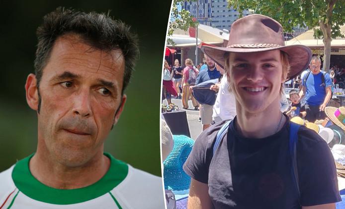 Laurent Hayez, à gauche, était en Australie depuis plusieurs semaines afin de retrouver la trace de son fils Théo. Ce dernier n'a plus donné signe de vie depuis le 31 mai dernier.