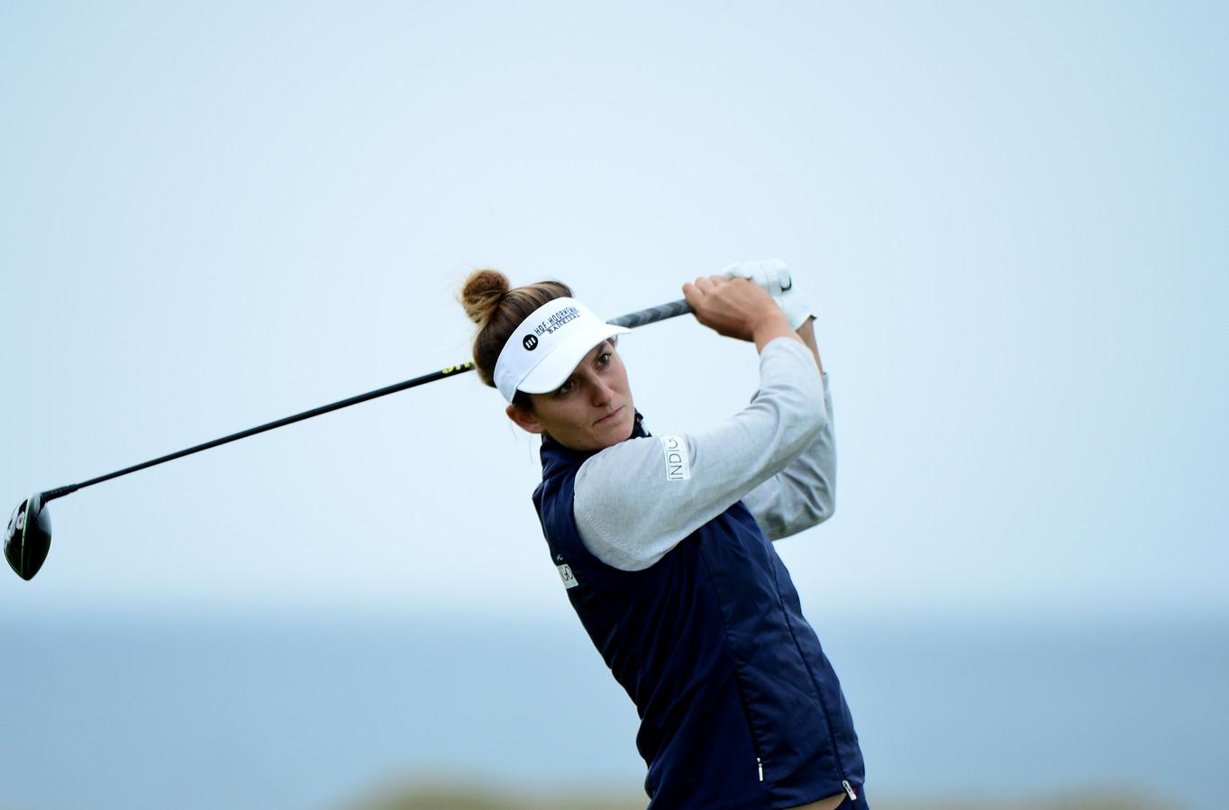 Anne Van Dam tijdens een wedstrijd in Schotland.