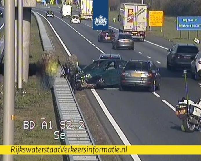 Ongeval op de A1.