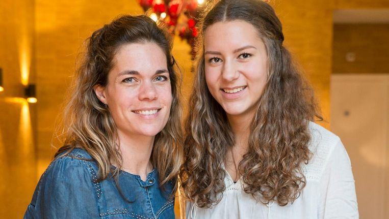 Leonie de Lorijn (l) en Paris Dortmans Beeld Charlotte Odijk