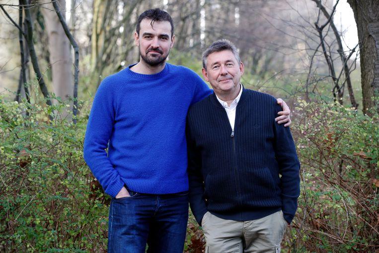 Rudi Vranckx en één van de reispartners: Joris Hessels