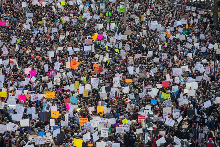 De March For Our Lives rally in Washington (maart 2018).  Beeld null