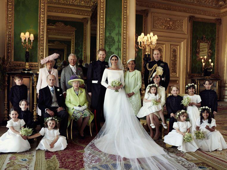 Kensington Palace: na de huwelijksvoltrekking van prins Harry en Meghan Markle in mei 2018. Beeld AP