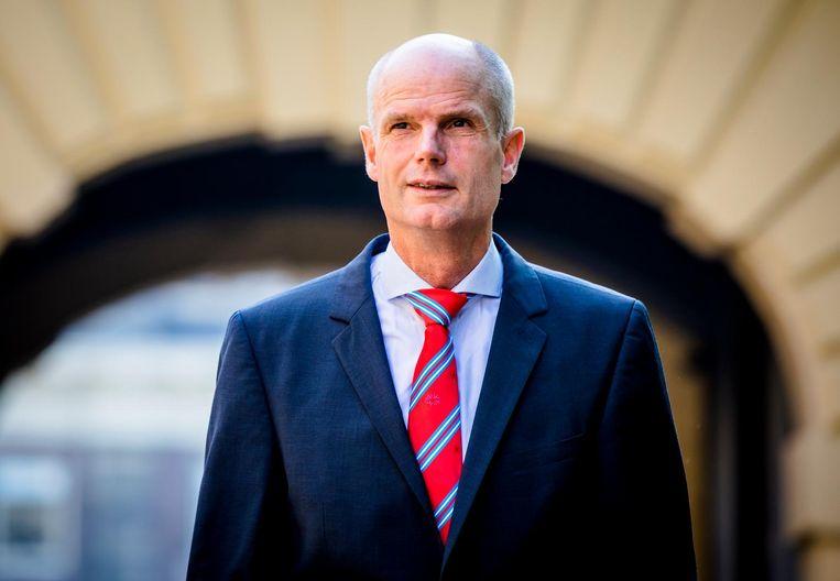 Minister Stef Blok van Buitenlandse Zaken (VVD) bij aankomst op het Binnenhof voor de laatste wekelijkse ministerraad voor het zomerreces. Beeld anp