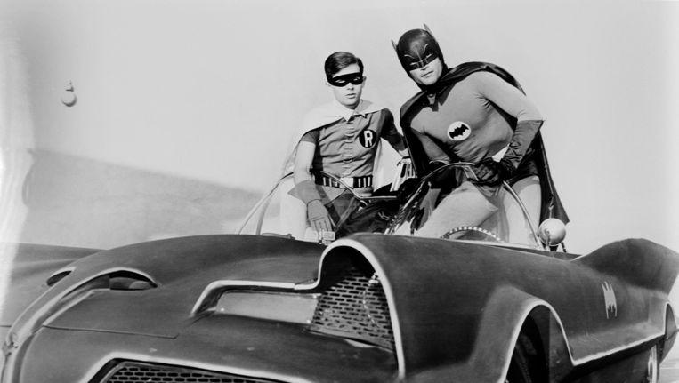 Adam West als Batman en Burt Ward als Robin in 1966 Beeld ANP Kippa