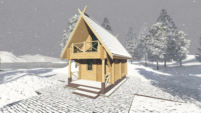 Voorbeeld van tiny house die in Bergen op Zoom wordt gebouwd.