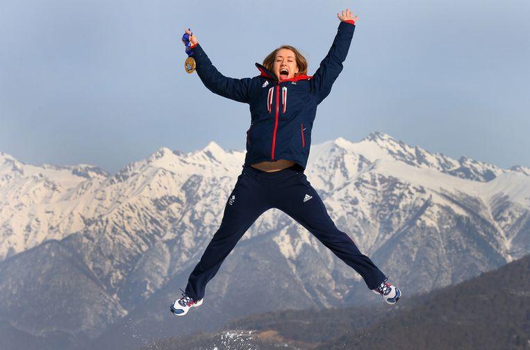 Olympisch kampioene skeleton Elizabeth Yarnold Beeld getty