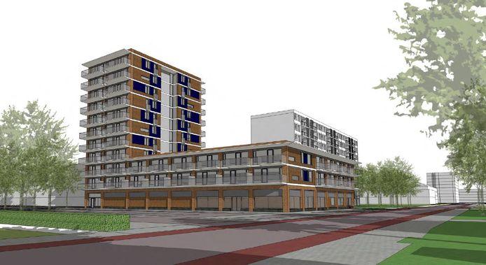 Het ontwerp voor de nieuwbouw op het Operaplein in Amersfoort