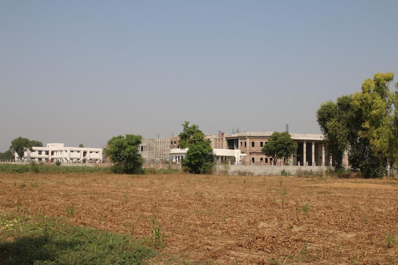 Het museum in aanbouw in Rakhigarhi