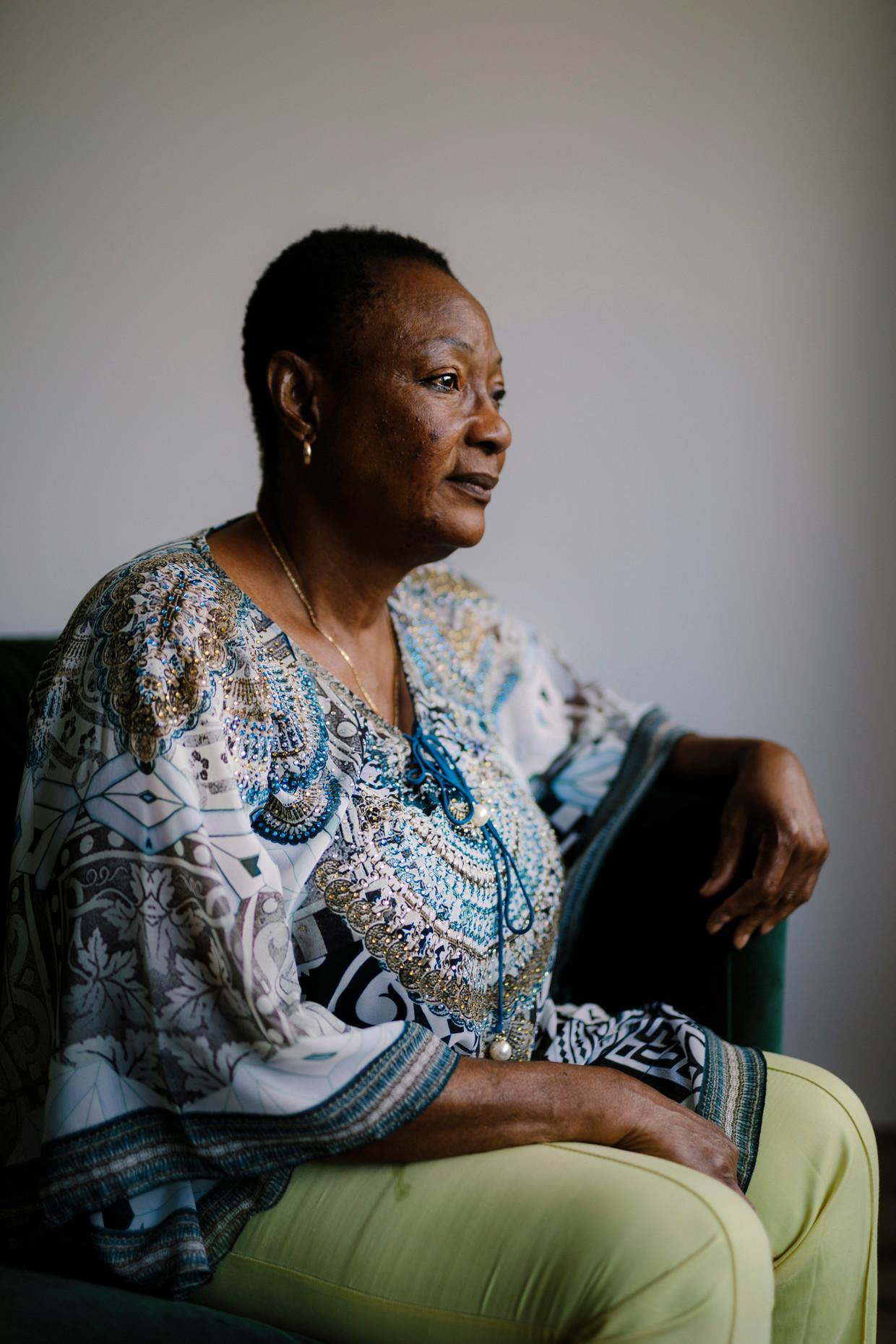 Adeline vluchtte in 2003 uit Sierra Leone. 'Ze zijn hier zo lief dat ik me soms toch een beetje thuis voel.'
