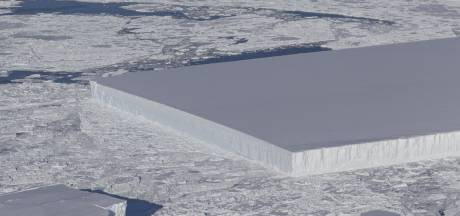 NASA treft op Antarctica perfect rechthoekige ijsberg aan