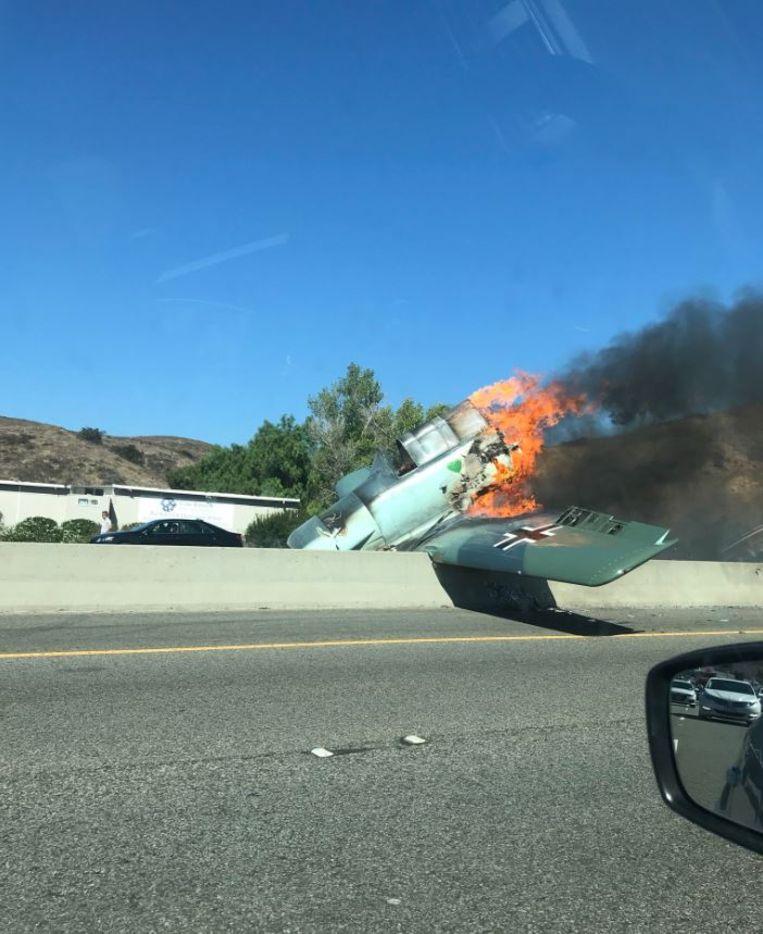 Vintage Nazi Vliegtuig Crasht Op Route 101 In Californië