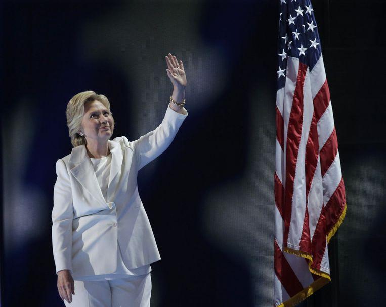 Hillary Clinton ging ook voor wit tijdens haar campagne voor de presidentsverkiezingen in juli 2016.