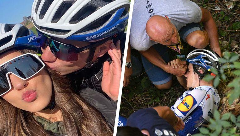 Evenepoel kwam zwaar ten val in de Ronde van Lombardije.