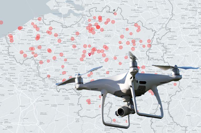 drone kaart IN KAART: Op deze locaties mag je niet met een drone vliegen, en