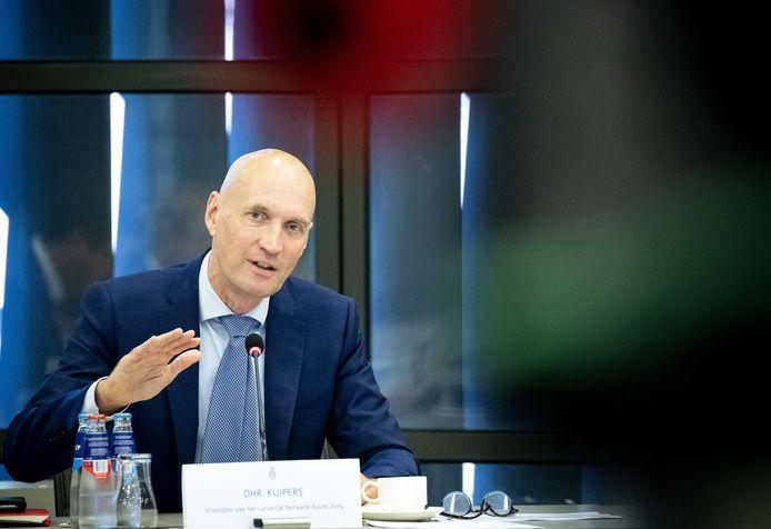 Ernst Kuipers, voorzitter van het Landelijk Netwerk Acute Zorg (LNAZ), in de Tweede Kamer.