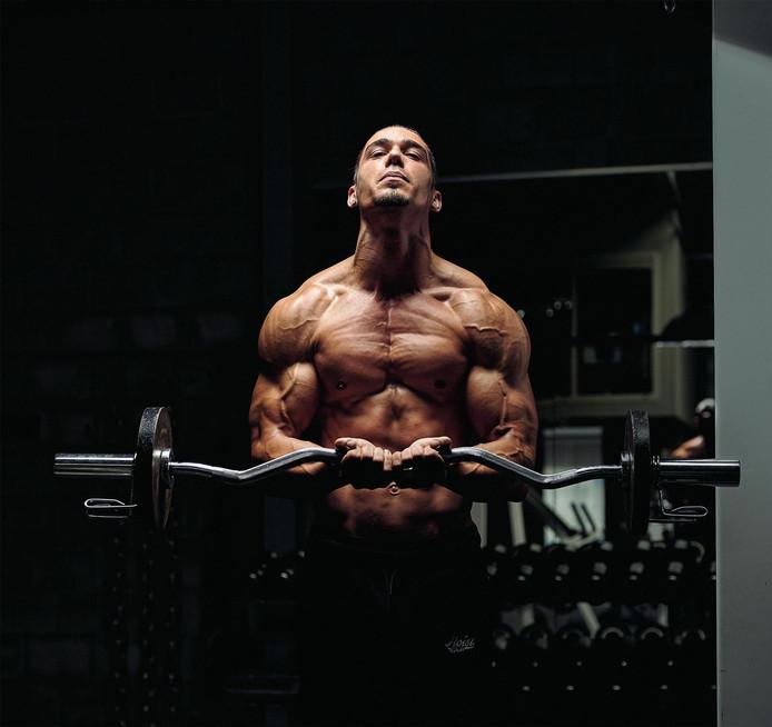 Caspar Ham valt voor wedstrijden veel af. ,,Dan heb ik nog maar drie procent lichaamsvet over.''