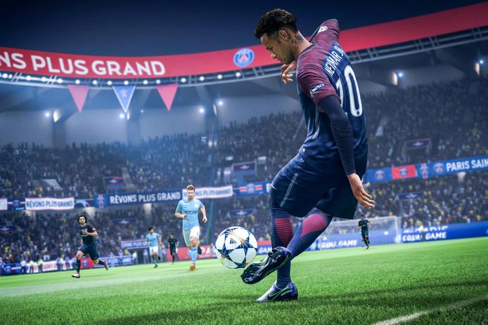 computer spel game EA Sports Fifa 2019 Neymar