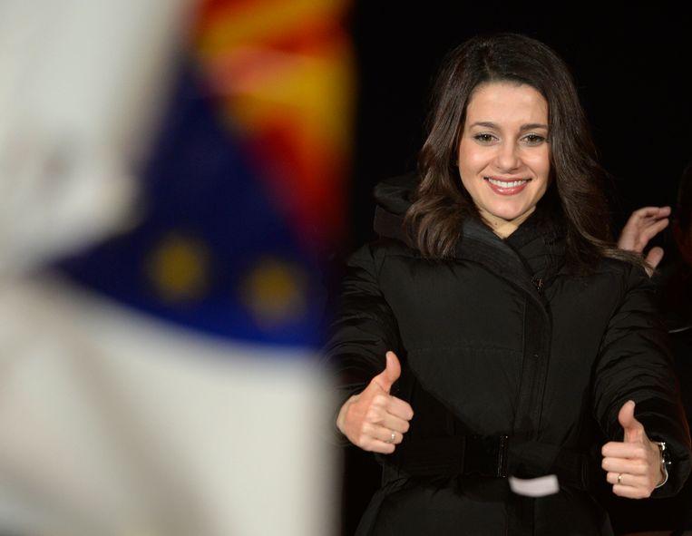 Inés Arrimadas van de pro-Spaanse partij Burgers. Beeld afp