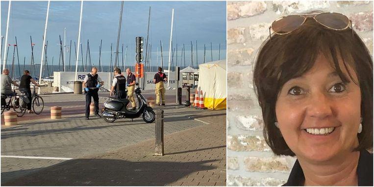 Ann Cafmeyer (47) overleed bij het ongeval op de Zeedijk van Knokke-Heist.
