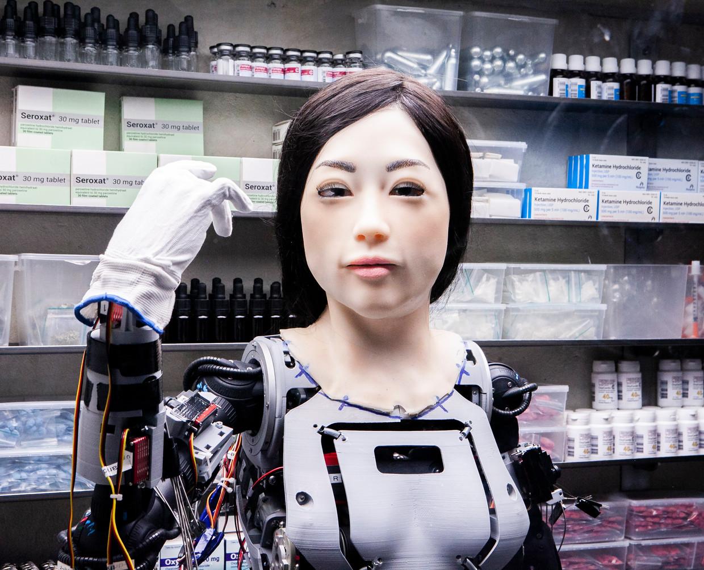 Robot Amy.  Beeld Hilde Harshagen