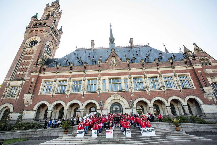 Het Vredespaleis in Den Haag. Beeld arie kievit