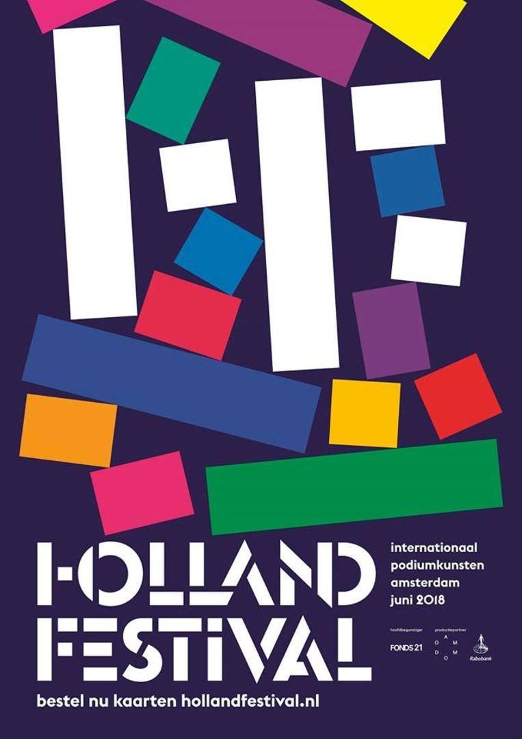 Flyer van het Holland Festival. Beeld Holland Festival