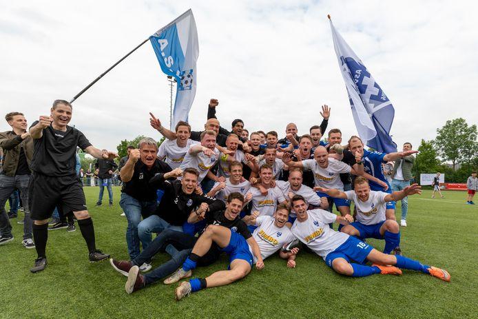 Kampioenschappen, zoals in dit geval bij Arkel in 2019, worden dit voetbalseizoen niet gevierd.