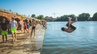 Zwemverbod aan Gentse hotspots massaal genegeerd, ondanks politiepatrouilles