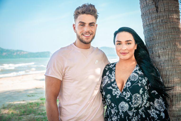Karim met zijn vriendin Roshina met wie hij meedoet aan 'Temptation Island'.
