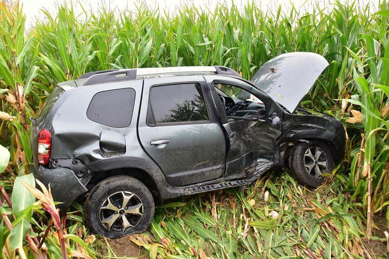 De Dacia Duster van Rita D. (62) liep zware schade op.